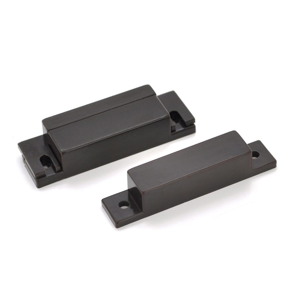 Купить Датчик магнитоконтактный MC-31, 64*12.8*12.8 мм, пластик, черный, под саморез, шурупы, 10 штук в упаковке, цена за упаковку