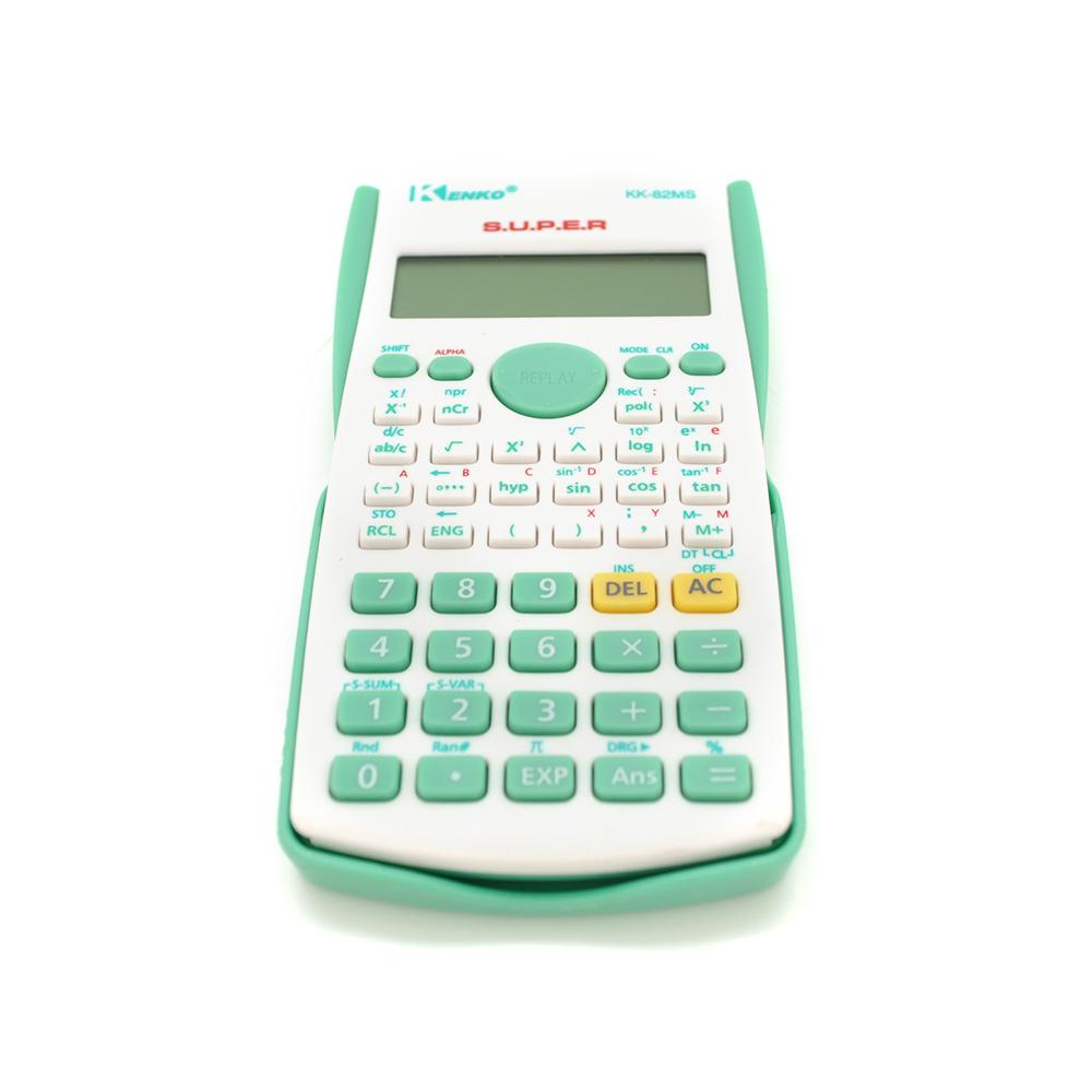 Купить Калькулятор инжинерный KK-82MS-3, 52 кнопки, черный, размеры 160*60*20мм, BOX
