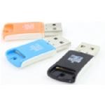 Купить Кардридер универсальный MERLION CRD-2BL TF/Micro SD, USB2.0, Blue, OEM Q50