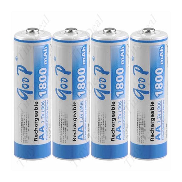 Купить Аккумулятор GODP GD4-AA1800/4B 1.2V  AA 1800mAh NiMH Already Charged, 4 штуки в блистере цена за блистер