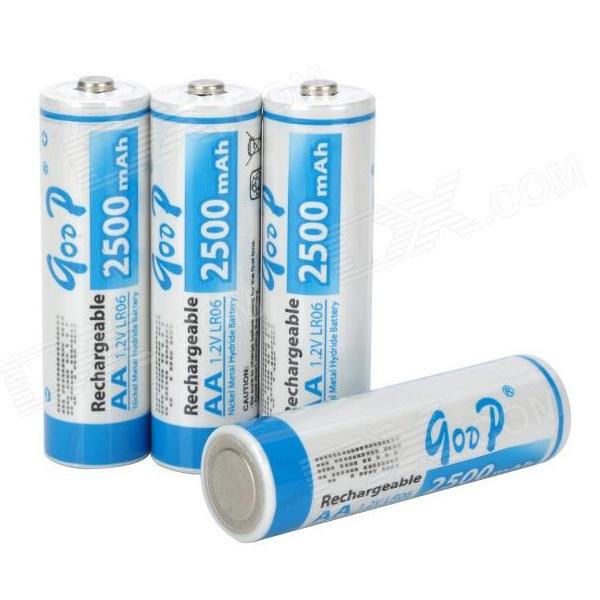 Купить Аккумулятор GODP GD4-AA2500/4B 1.2V  AA 2500mAh NiMH Already Charged, 4 штуки в блистере цена за блистер