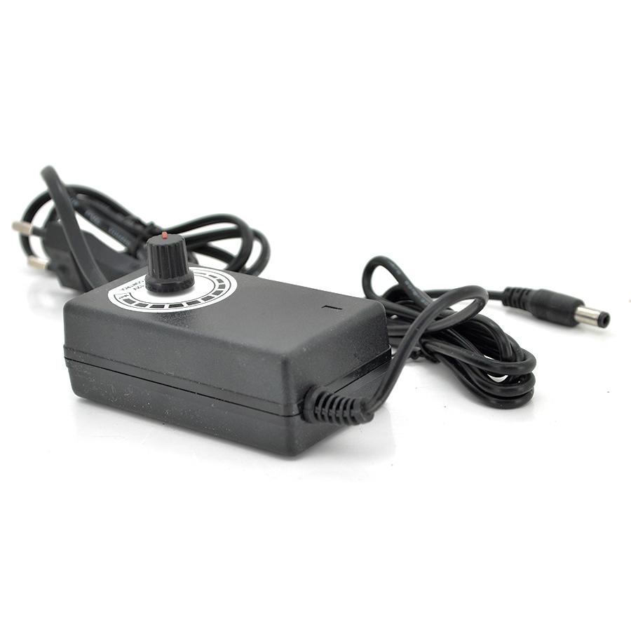 Купить Импульсный адаптер питания c регулятором 3-12V 2А (24Вт)  штекер 5.5/2.5 длина 0,9м