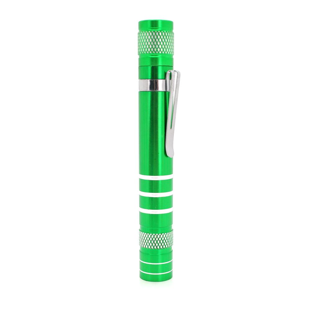 Купить Карманный фонарик, 1LED, 1 режим, корпус- алюминий, питание 2*АА, 95*19мм, Green, ОЕМ