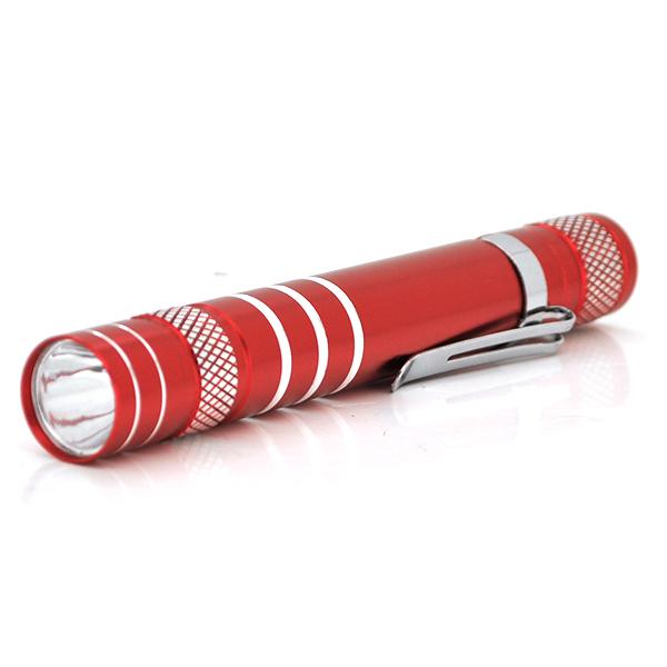 Купить Карманный фонарик, 1LED, 1 режим, корпус- алюминий, питание 2*АА, 95*19мм, Red, ОЕМ