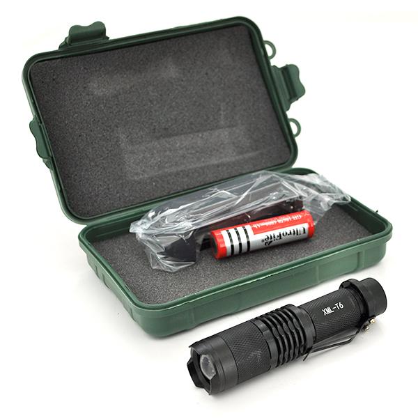 Купить Фонарик ручной UltraFire, 5 реж., Zoom, корпус- алюминий, водостойкий, ударостойкий, 18650 ак-тор, зарядка 1*АА, BOX
