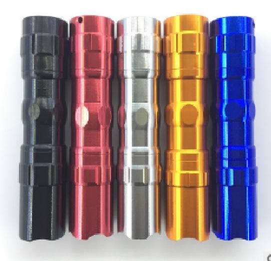 Купить Карманный фонарик 5001-10, 1LED, 1 режим, корпус- алюминий, питание 2*АА, 95*19мм, Blue, ОЕМ