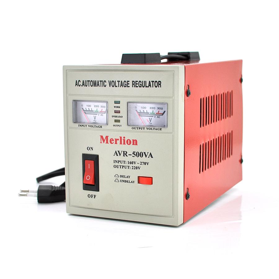 Купить Стабилизатор напряжения настенный релейный Вольт ECO-6000, 8000VA, 6000ВТ, LCD, 6 ступеней, 120-300V, 220 В± 7%, клемы, Металл, Black