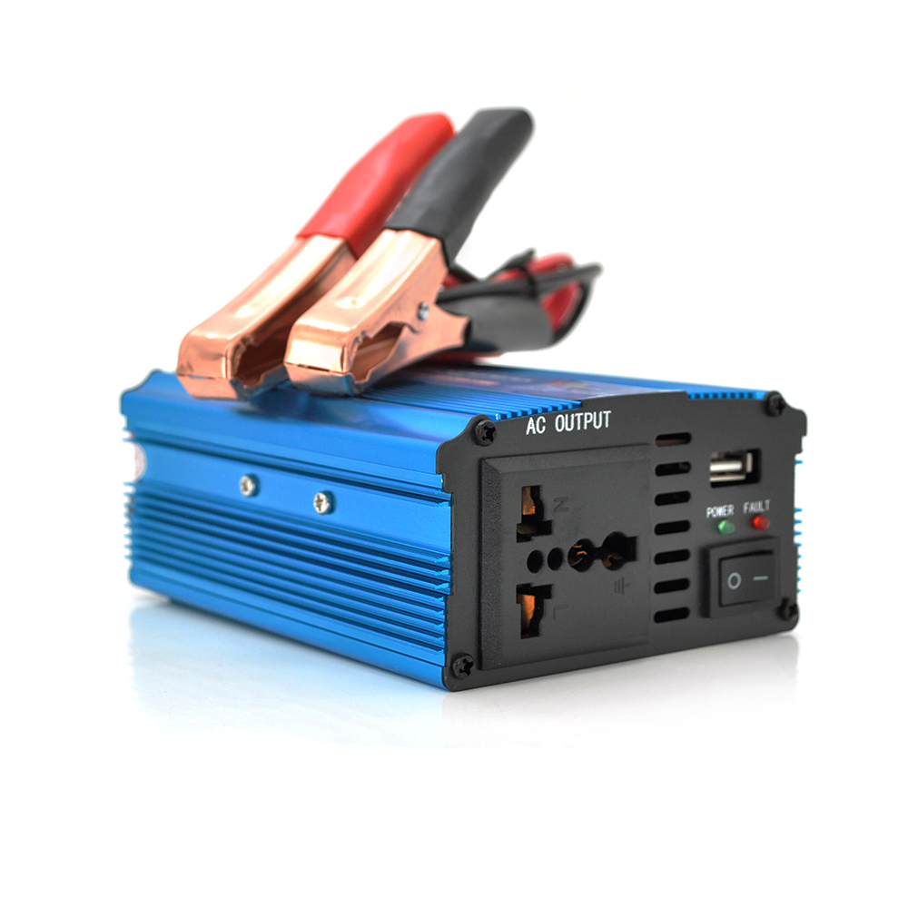 Купить Инвертор напряжения N/N 500Вт, 12/220 с аппроксимированной синусоидой, 1 универсальная розетка, клемы, 1 USB выход