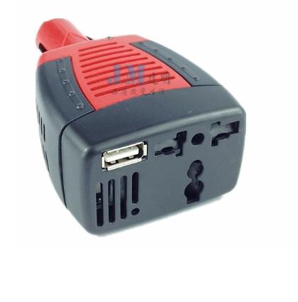 Купить Инвертор напряжения в прикуриватель, 150Вт, 12/220 с аппроксимированной синусоидой, универсальная розетка, 1 USB выход, Blister