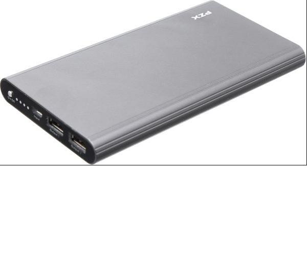 Купить Power bank 20000mAh PZX-C158, USB-1A + mini USB +кабель USB micro, LED фонарик, Gray, Blister-BOX
