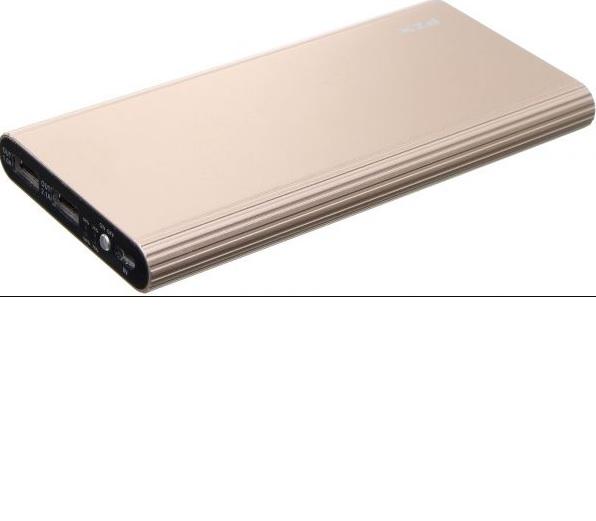 Купить Power bank 20000mAh PZX-C158, USB-1A + mini USB +кабель USB micro, LED фонарик, Gold, Blister-BOX