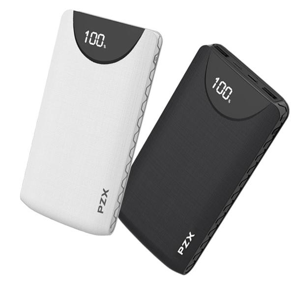 Купить Power bank 20000mAh PZX-C200, USB-1A + mini USB +кабель USB micro, LED фонарик, Black, Blister-BOX