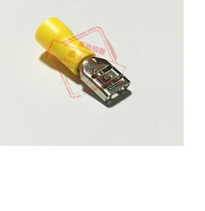 Купить Разъем виброустойчивый плоский FDD5.5-250, провод 4.0-6.0, изолированный, максимальный ток 24А, под обжимку, латунь, 500шт в упаковке, цена за упак.