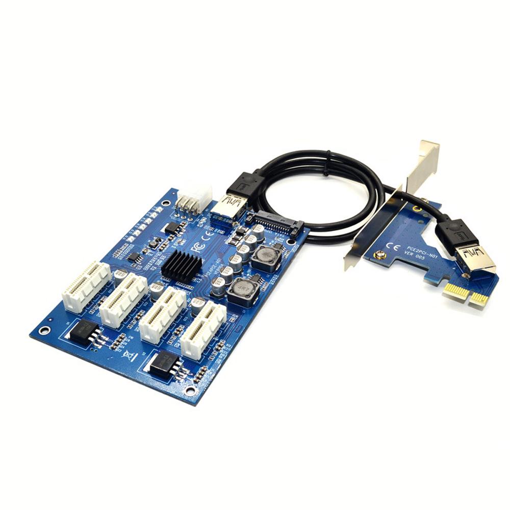 Купить Cплиттер-разветвитель-хаб PCI-e x 1 на 3 порта х 1,BOX