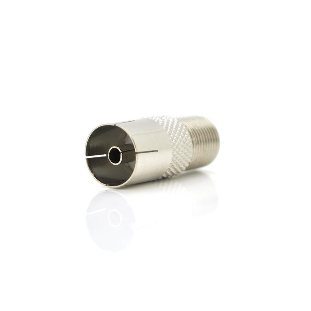Купить Штекер ТВ прямой IECF-FF (латунь) Q100