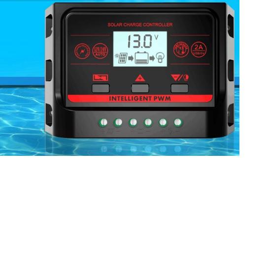 Купить Контроллер заряда PWM-S-10A для солнечных систем, 12/24V 10A, 2xUSB2.0 - 5V 2A, LCD, Box