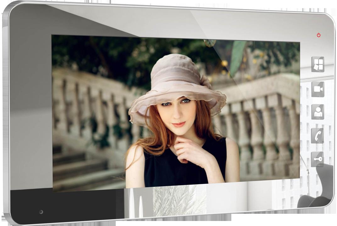"""Купить Видеодомофон Qualvision QV-IDS4734 mirror 7"""" цветной монитор"""