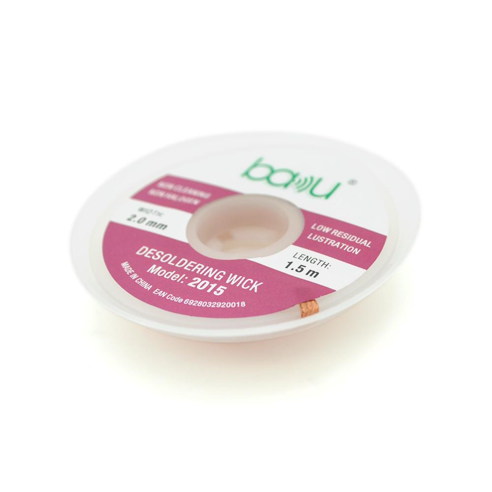 Купить Оплетка для удаления припоя BAKKU BK-2015, 2,0mm x 1,5m, Box