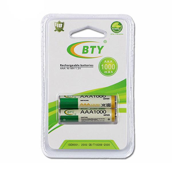 Купить Аккумулятор BTYAAA1000/2B 1.2V  AAA 1000mAh NiMH Rechargeable Battery, 2 штуки в блистере цена за блистер