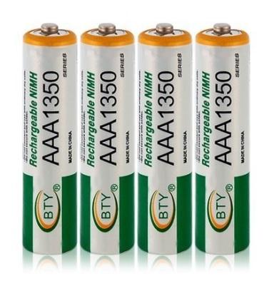 Купить Аккумулятор BTYAAA1350/4B 1.2V  AAA 1350mAh NiMH Rechargeable Battery, 4 штуки в блистере цена за блистер