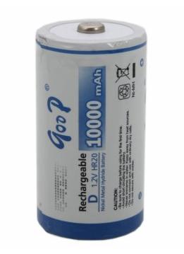 Купить Аккумулятор GODP R20/1B 1.2V NiMH Rechargeable Battery 10000mAh, 1 штукa в блистере цена за блистер