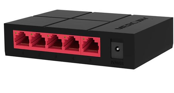 Купить Коммутатор Mercury SG105M 5 портов Ethernet 10/100 Мбит/1000 Мбит/сек, BOX Q200
