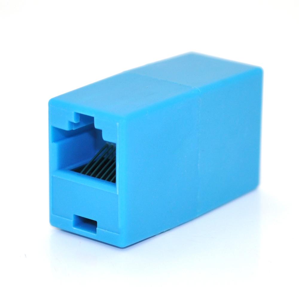 Купить Соединитель RJ45 8P8C мама/мама RJ45 для соединения кабеля, голубой, Q100