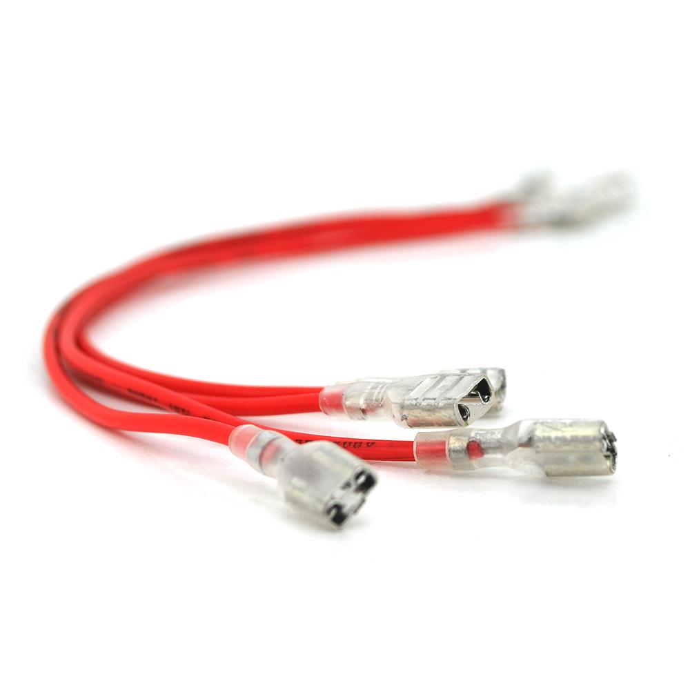 Купить Перемычка (соединитель) 250 мм 0,75мм2 под клемы F2 для аккумуляторов, красная, цена за штуку
