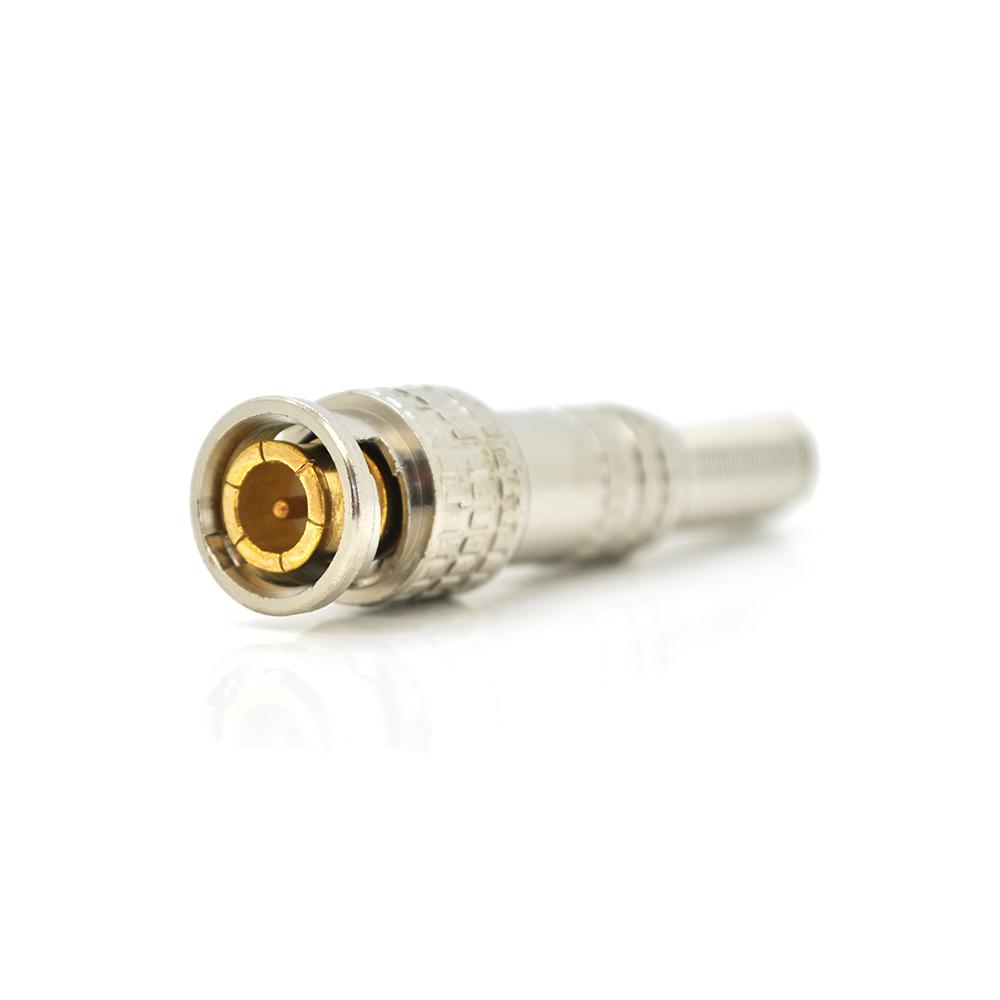 Купить Разъем BNC-M - с пружиной под кабель и наконечником под винт  для фиксации центральной жилы, GOLD Corton BOX Q100