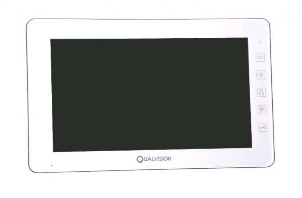 """Купить Видеодомофон Qualvision QV-IDS4A08 белый 10"""" цветной монитор"""