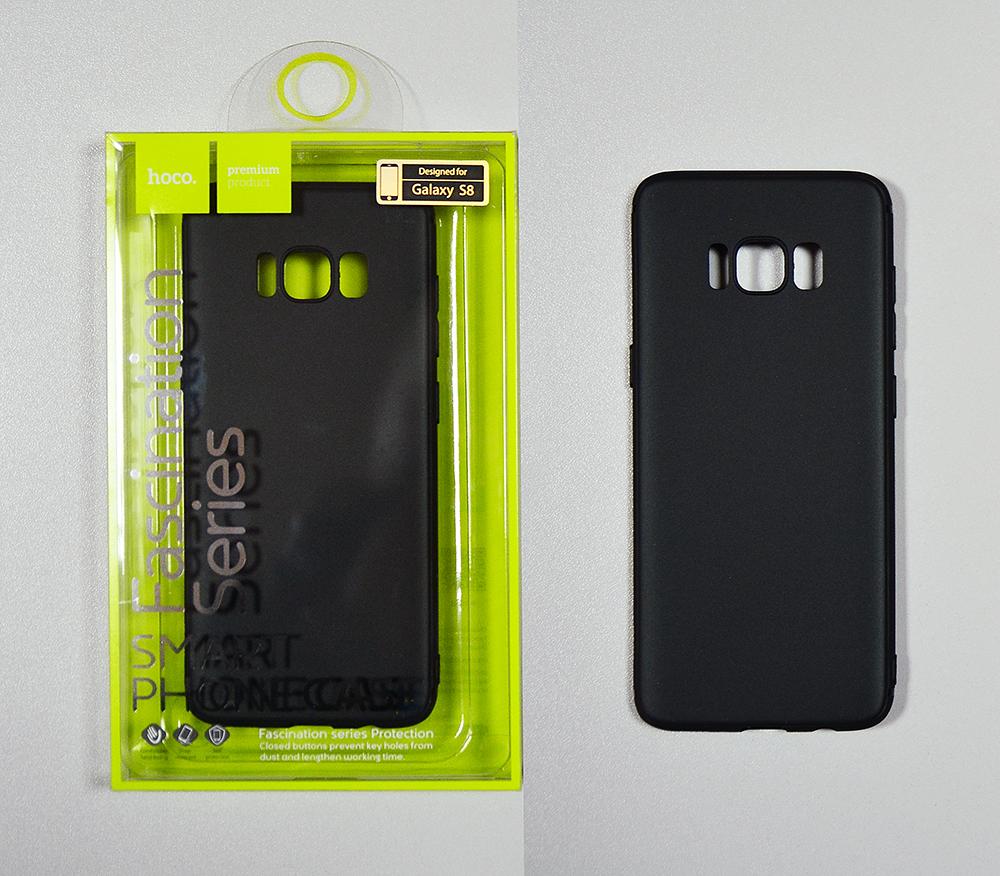 Купить Hoco чехол силиконовый ультратонкий Fascination series protective case for Galaxy S8 black