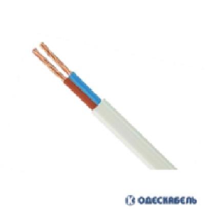 Купить Кабель ШВВП 2х0,5 цена за метр (бух.100м) многожилка/ цвет белый