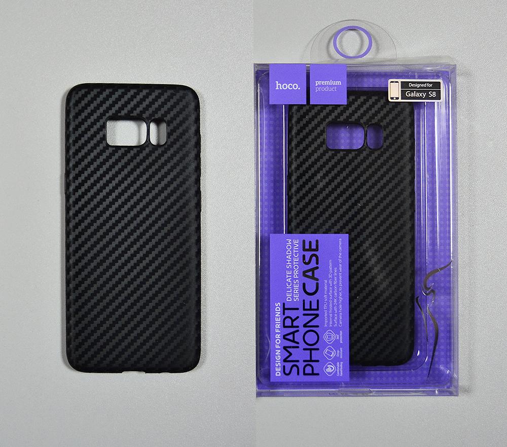Купить Hoco Чехол под карбон силиконовый Delicate shadow series protective case for Galaxy S8 black