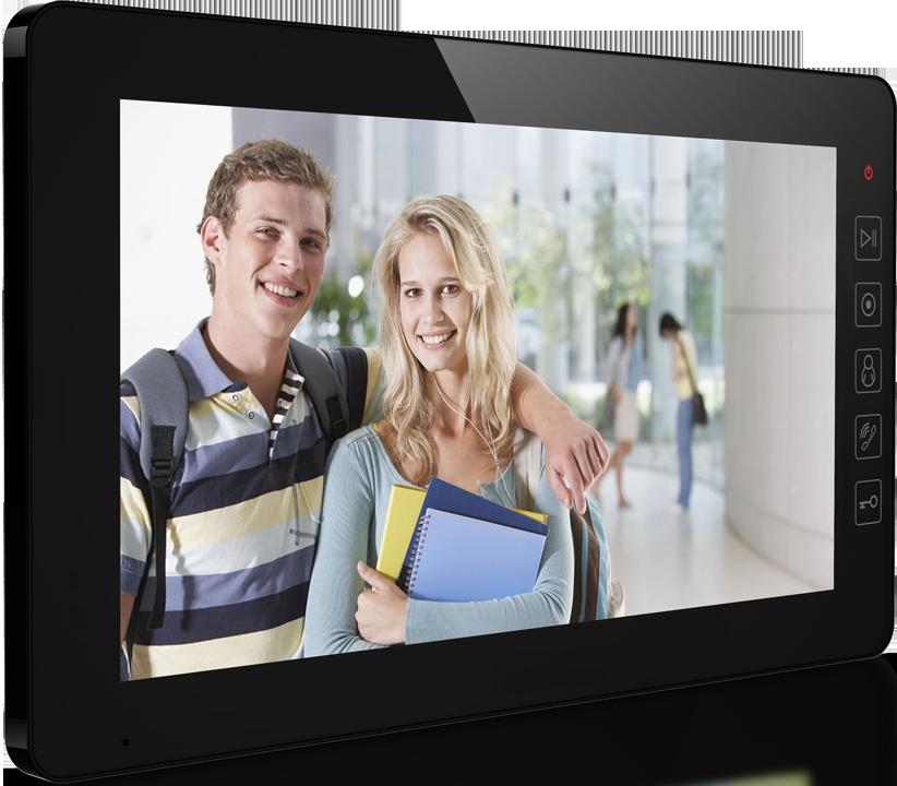 """Купить Видеодомофон Qualvision QV-IDS4A08 черн\u0456й 10"""" цветной монитор"""