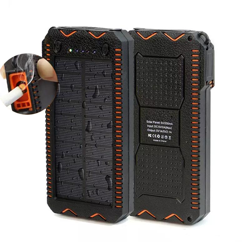 Купить Power bank 23000 mAh Solar For Laptop, (5V/200mA), 2xUSB, 5V/1A/2,1A, USB  microUSB, ударо защищеный прорезиненный корпус, Black, Corton BOX