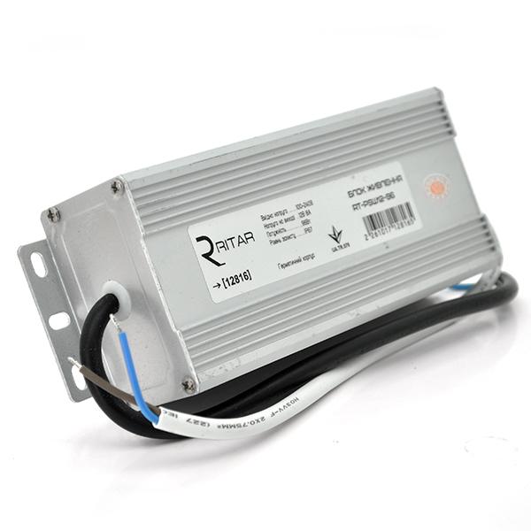 Купить Импульсный блок питания герметичный Ritar RTPSW12-96 12В 8А (96Вт) IP67 (182*82*48) 0,74 кг (172*67*44)