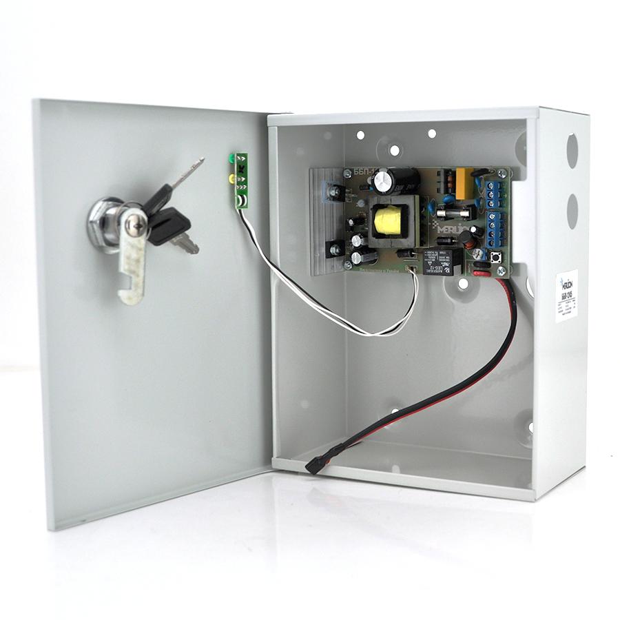 Купить Источник бесперебойного питания MERLION 12В 3А ББП-1245A (один канал, ток заряда до 300мА, заряд до 7А/ч)