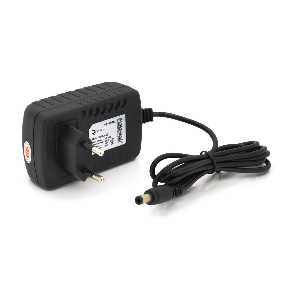 Купить Импульсный адаптер питания Ritar RTPSP 12В 1А (12Вт)  штекер 5.5/2.5  длина 1м Q100 (94*77*29) 0.09 кг