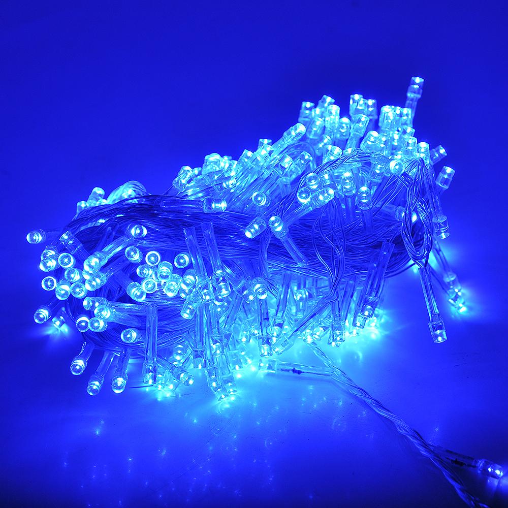Купить Гирлянды 200LED (Свечка) Blue 13.5 метров, прозрачная изоляция, BOX