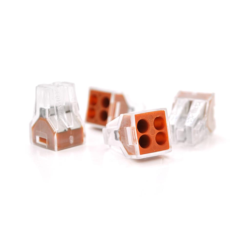 Купить Соединитель с плоскопруж.зажимом для распределительных коробов 4-pin