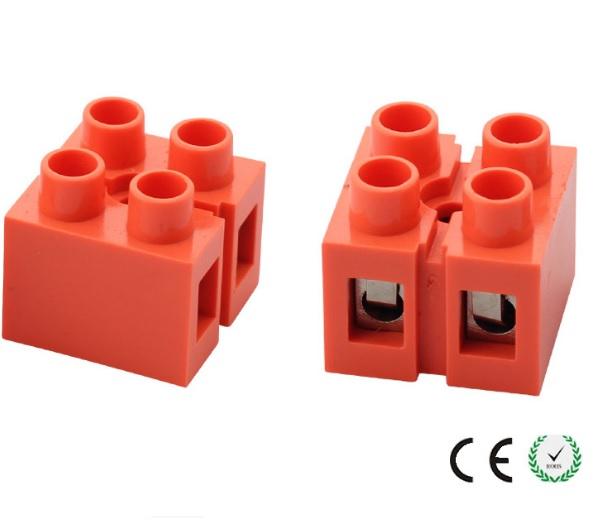 Купить Клеммный блок H2519-2P 36A/660V, материал медь, сечение провода 0.5-6мм2