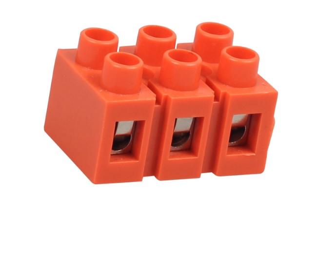Купить Клеммный блок H2519-3P 36A/660V, материал медь, сечение провода 0.5-6мм2