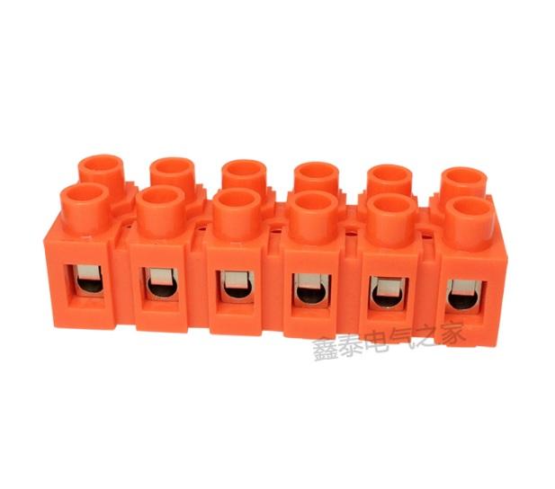 Купить Клеммный блок H2519-6P 36A/660V, материал медь, сечение провода 0.5-6мм2