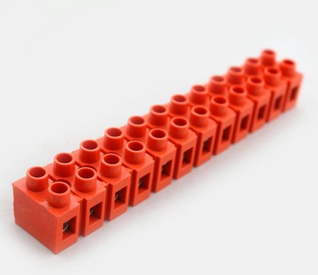 Купить Клеммный блок H2519-12P 36A/660V, материал медь, сечение провода 0.5-6мм2