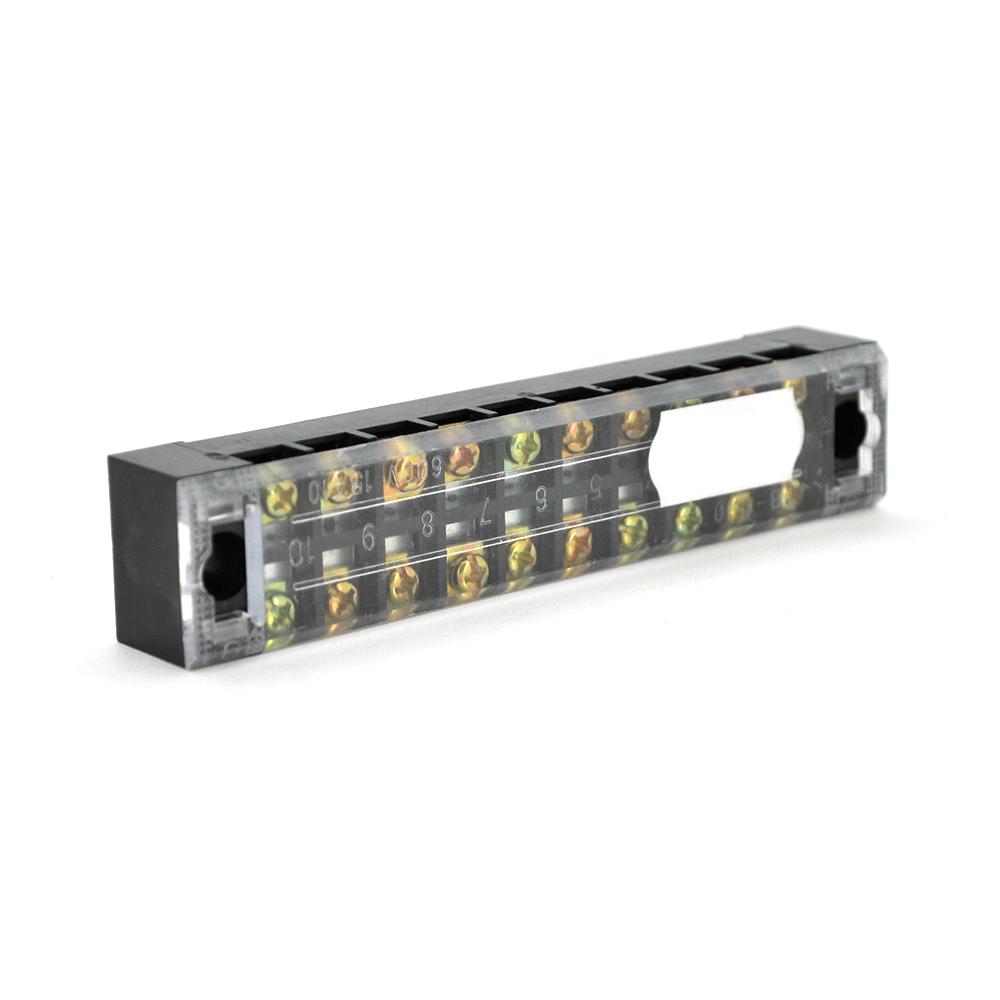 Купить Клеммная колодка 10-разрядная TB-1510 15A/600V, сечение провода 0,5-1,5мм2, 50 шт в упаковке, цена за штуку