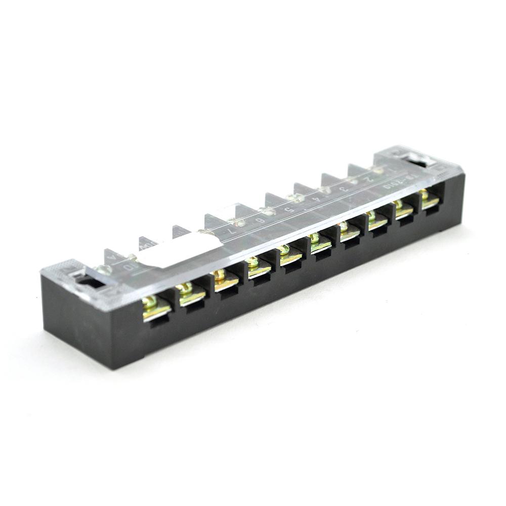 Купить Клеммная колодка 10-разрядная TB-2510 25A/600V, сечение провода 0,5-2,5мм2, 25 шт в упаковке, цена за штуку