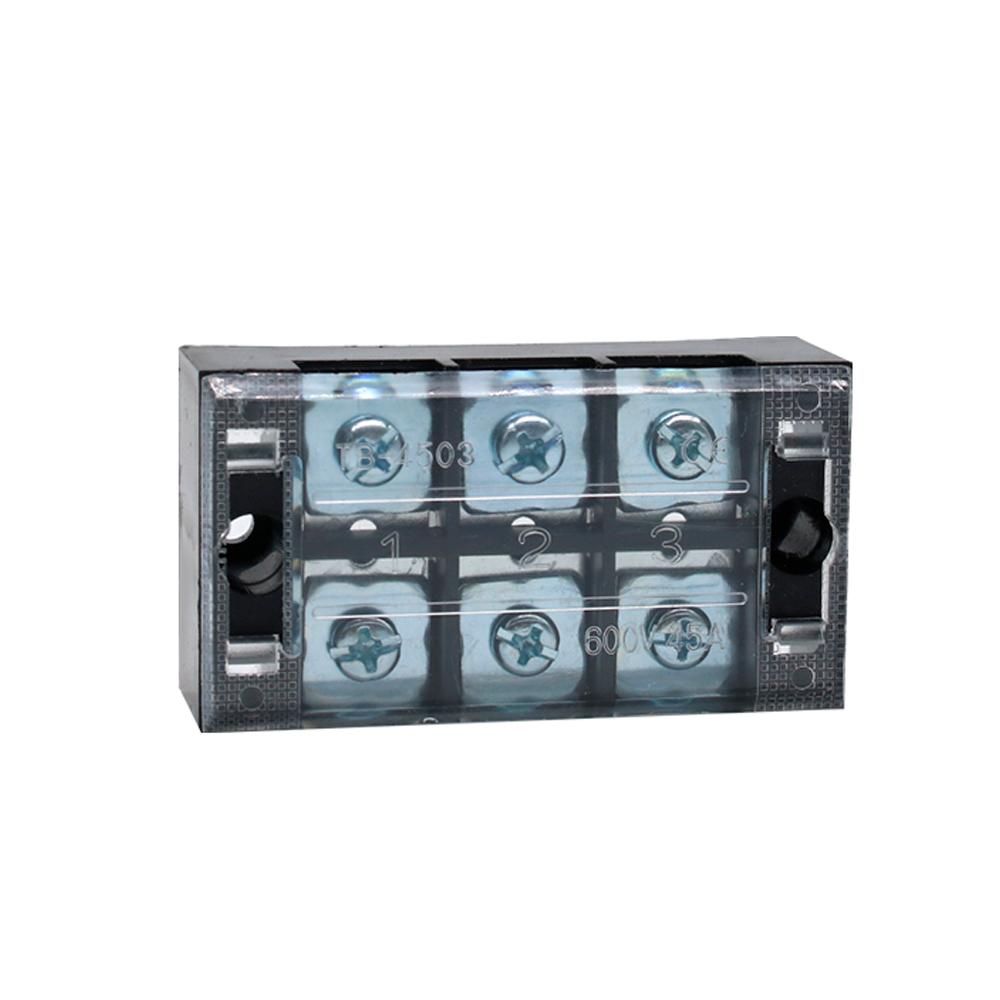 Купить Клеммная колодка 3-разрядная TB-4503 45A/600V, сечение провода 0,5-4,0мм2, 50 шт в упаковке, цена за штуку