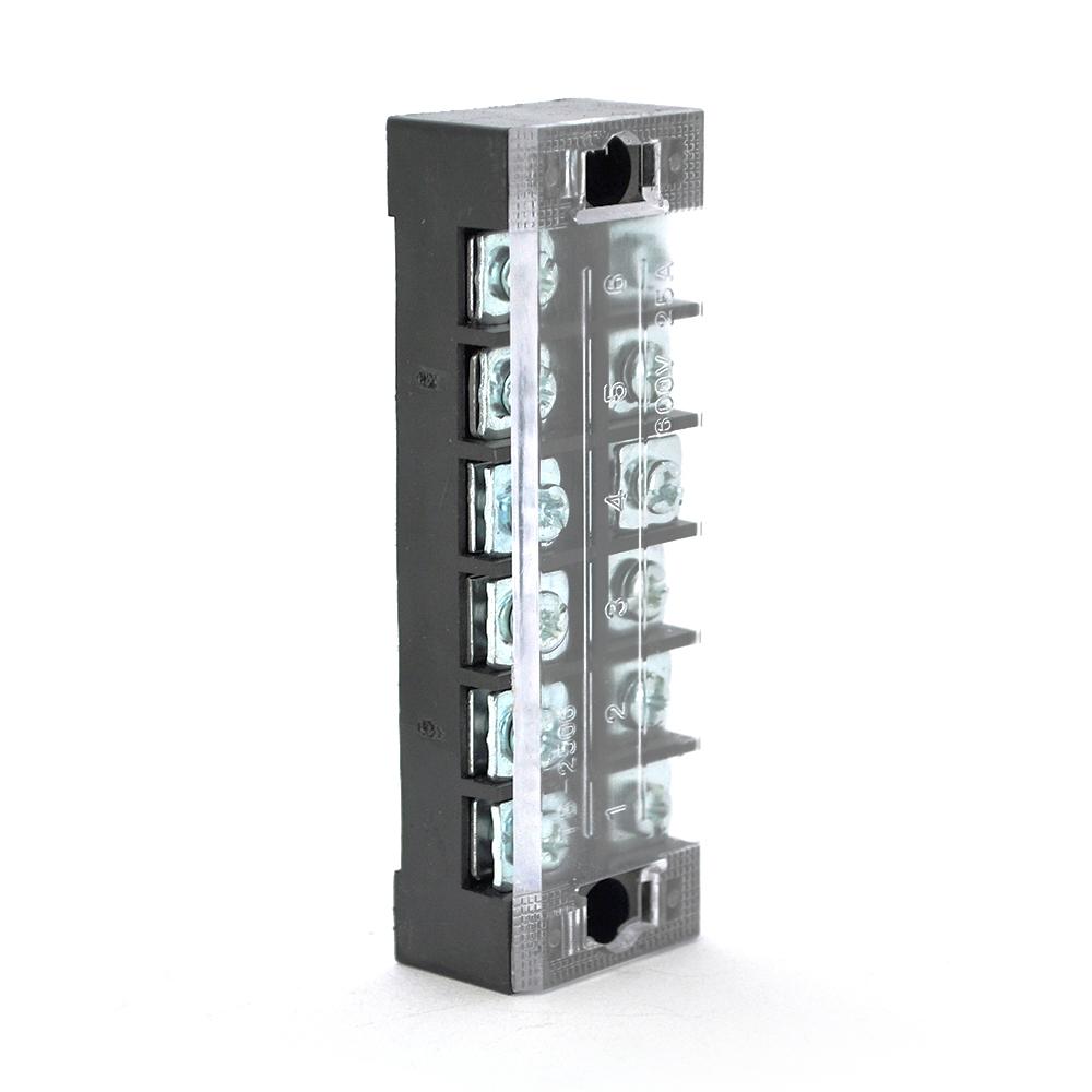 Купить Клеммная колодка 6-разрядная TB-2506 25A/600V, сечение провода 0,5-2,5мм2, 50 шт в упаковке, цена за штуку