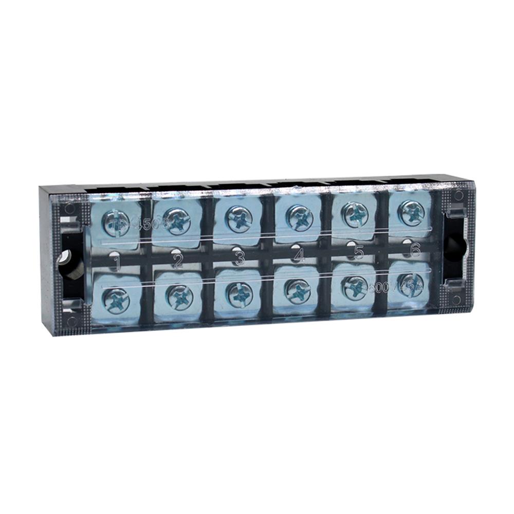Купить Клеммная колодка 6-разрядная TB-4506 45A/600V, сечение провода 0,5-4,0мм2, 20 шт в упаковке, цена за штуку