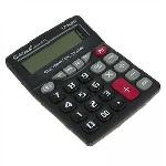 Купить Калькулятор офисный DS-111-12, 26 кнопок, черный, размеры 200*160*45мм, Box
